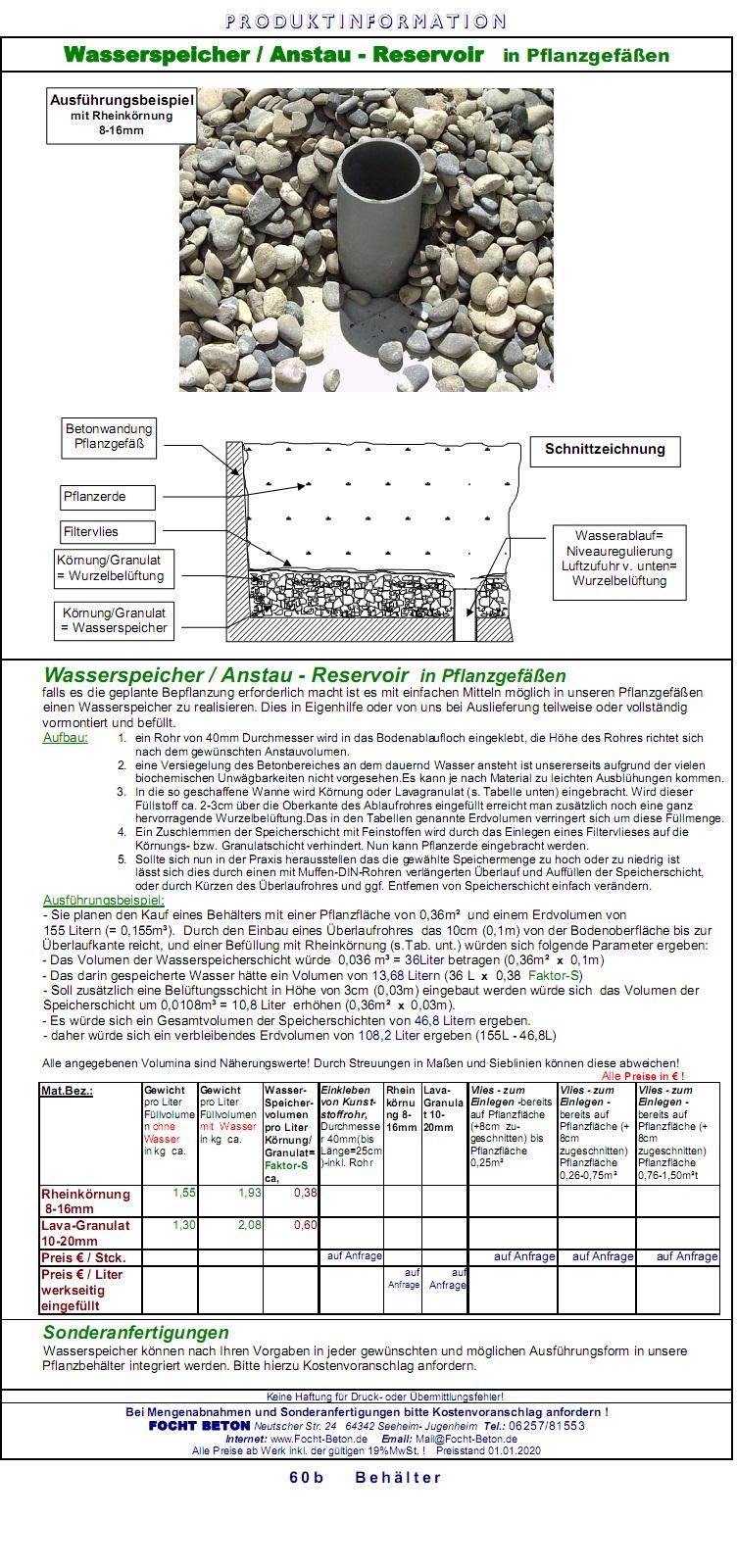 Wasserspeicher Anstaureservoir Wasserreservoir Konstruktion/Zeichnung/Info