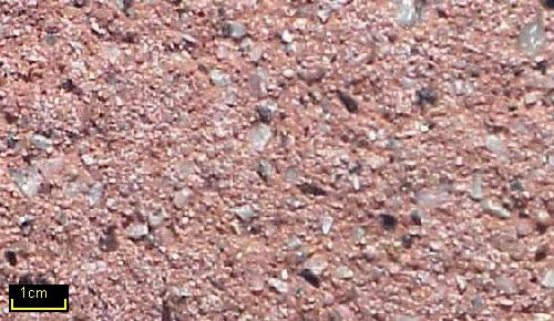 Sandstrahleffekt Granit grau 35 rot 3