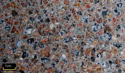 Sandstrahleffektbeton Granit_Grau / Granit_Rot MIX 35 grau